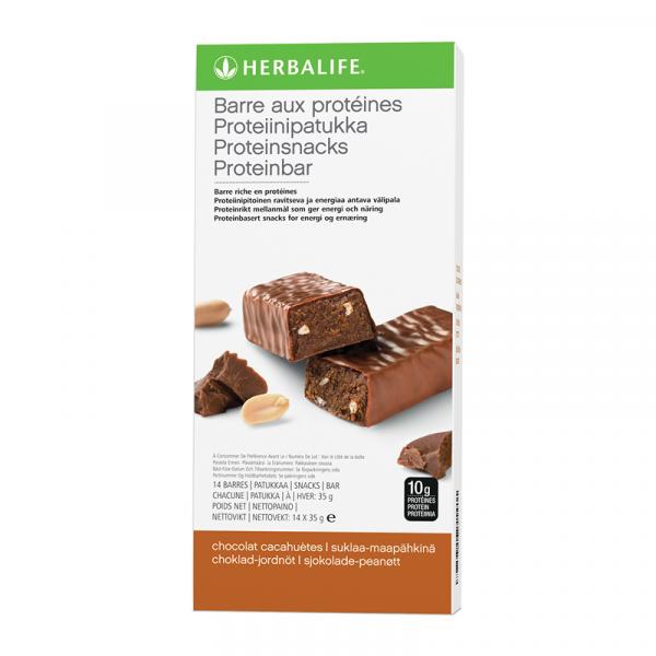 Barres aux Protéines Chocolat cacahuètes 14 barres de 35 g