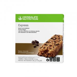 Barres aux protéines Express Chocolat 7 barres de 56 g