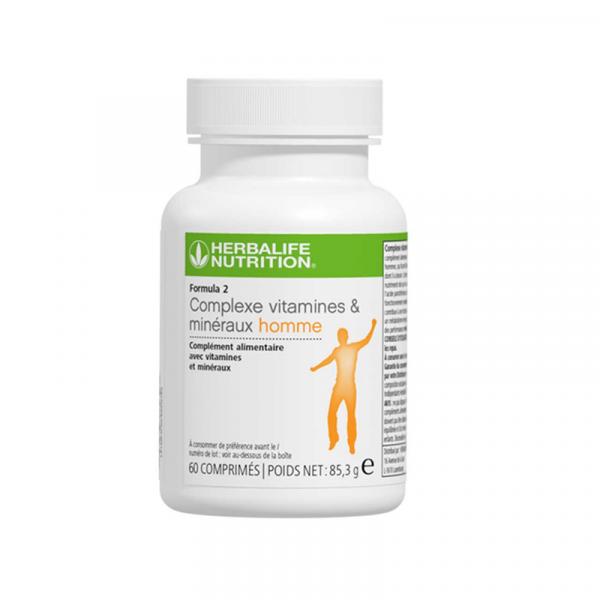 Formula 2 Complexe vitamines et minéraux homme 60 comprimés – 85.3 g Disponible en France