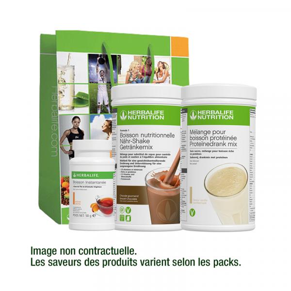 Pack Fit & Form avec F1 Chocolat et Thé Original et boisson protéinée Disponible en France