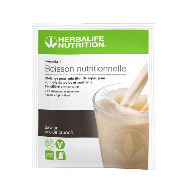 Sachets de Formula 1 nouvelle génération - Boisson Nutritionnelle Cookie Crunch lot de 7 sachets de 26 g