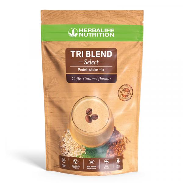 Tri Blend Select – Mélange pour Shake protéiné Café Caramel 600 g